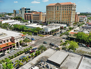 Bird's eye view of Coral Gables, FL